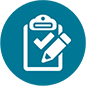 Pencil and clipboard icon